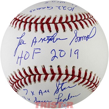Lee Smith Autographed Major League Baseball Inscribed with Career Stats