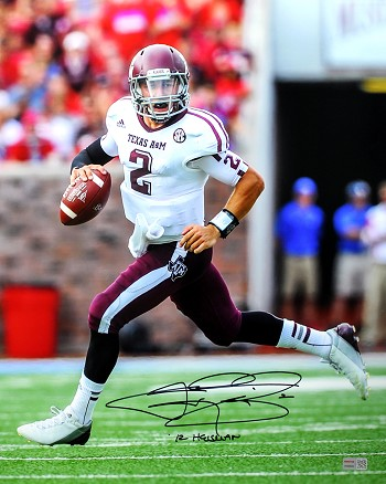 Johnny Manziel Autographed Texas A&M Aggies 16x20 Photo Inscribed '12 Heisman