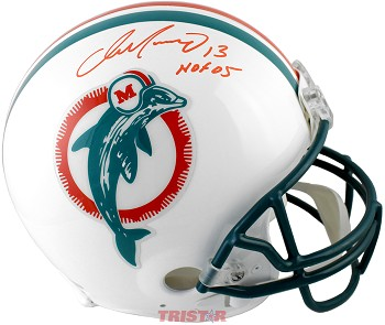Dan Marino Autographed Miami Dolphins Authentic Full Size Helmet Inscribed HOF 05