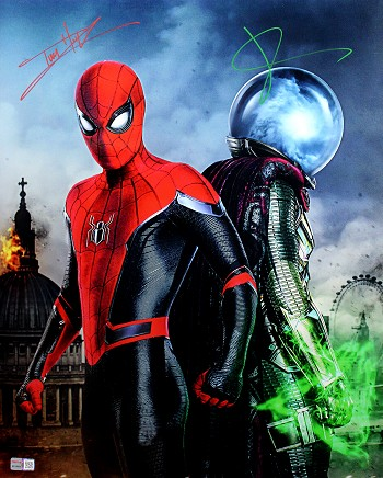Jake Gyllenhaal & Tom Holland Autographed 'Spider-Man: Far from Home' Movie 16x20 Photo