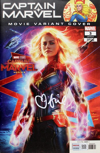 Brie Larson Autographed 'Captain Marvel' Comic #3 Movie Variant Edition