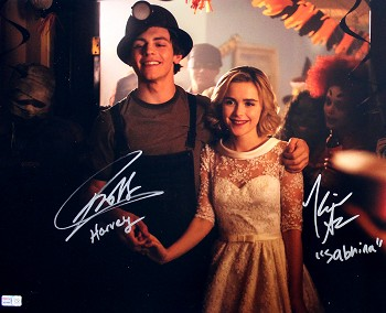 Ross Lynch & Kiernan Shipka Autographed 'Chilling Adventures of Sabrina' 16x20 Photo