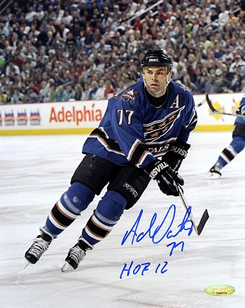 Adam Oates Autographed Washington Capitals 8x10 Photo Inscribed HOF 12