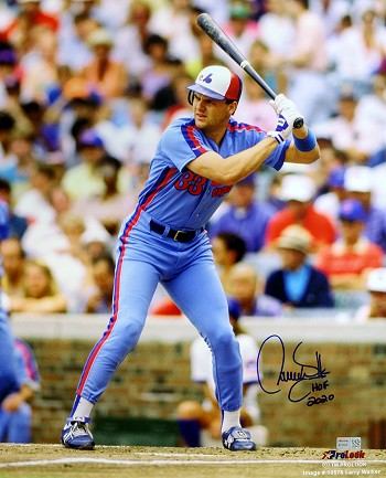Larry Walker Autographed Montreal Expos 16x20 Photo Inscribed HOF 20