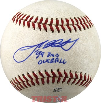 Josh Beckett Autographed Official Minor League Baseball Inscribed 99 2nd Overall