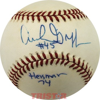 Archie Griffin Autographed 1994 World Series Baseball Inscribed #45 Heisman 74