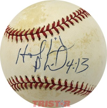 Evander Holyfield Autographed Offical National League Baseball Inscribed Phil 4:13