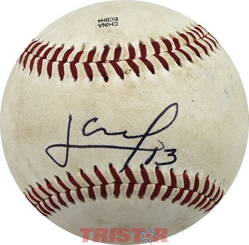 Lourdes Gurriel Autographed Southern League Baseball Inscribed 13