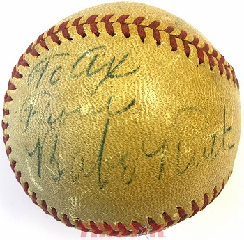 Babe Ruth & Umpire George Magerkurth Autographed Vintage Spalding Baseball