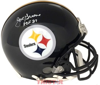 Joe Greene Autographed Pittsburgh Steelers Full Size Proline Helmet Inscribed HOF 87