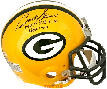 Bart Starr Autographed Green Bay Packers Full Size Helmet Inscribed SB MVP, HOF