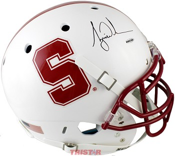 Tiger Woods Autographed Stanford Cardinals Authentic Schutt Helmet