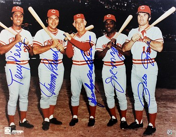 Big Red Machine Autographed Cincinnati Reds 11x14 Photo - Bench, Rose, Anderson, Morgan, Perez