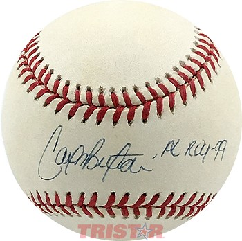 Carlos Beltran Autographed Official American League Baseball Inscribed AL ROY 99