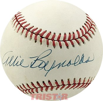 Allie Reynods Autographed Official AL Baseball Inscribed Merry Christmas