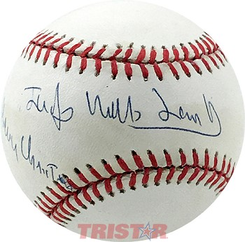 Judge Mills Lane Autographed Official NL Baseball Inscribed Merry Christmas