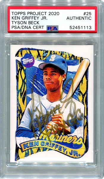 Ken Griffey Jr. Autographed Topps Project 2020 Card #25 Inscribed 10x GG - Gold 1/1