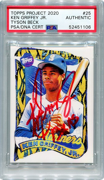 Ken Griffey Jr. Autographed Topps Project 2020 Card #25 Inscribed 13x AS - Red 1/1