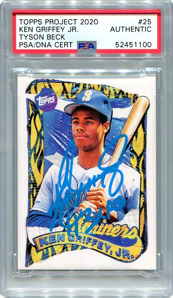 Ken Griffey Jr. Autographed Topps Project 2020 Card #25 Inscribed 13x AS - Blue 1/1