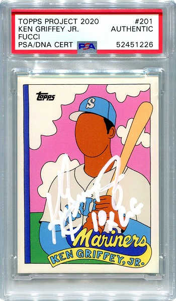 Ken Griffey Jr. Autographed Topps Project 2020 Card #201 Inscribed 10x GG - White 1/1