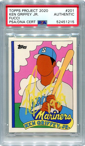 Ken Griffey Jr. Autographed Topps Project 2020 Card #201 Inscribed 1989 - Yellow 1/1