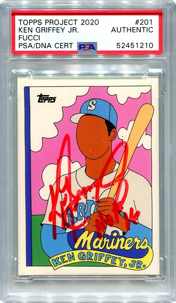 Ken Griffey Jr. Autographed Topps Project 2020 Card #201 Inscribed HOF 16 - Red 1/1
