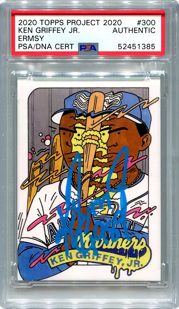 Ken Griffey Jr. Autographed Topps Project 2020 Card #300 Inscribed 1989 - Blue 1/1