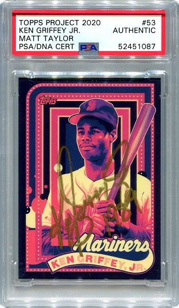 Ken Griffey Jr. Autographed Topps Project 2020 Card #53 Inscribed 1989 - Gold 1/1