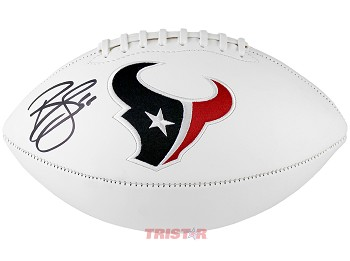 Brian Cushing Autographed Houston Texans Embroidered Logo Football