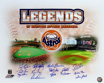 Houston Astros Legends Autographed Commemorative 16x20 Photo - 14 Signatures