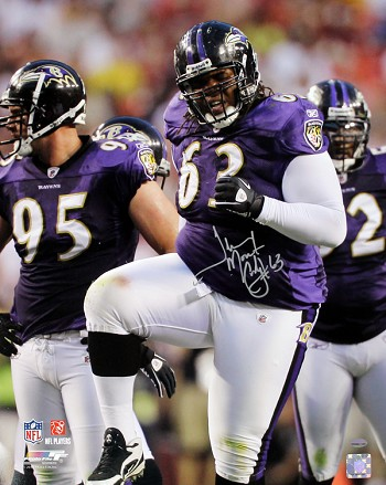 Terrence Cody Autographed Baltimore Ravens 16x20 Photo