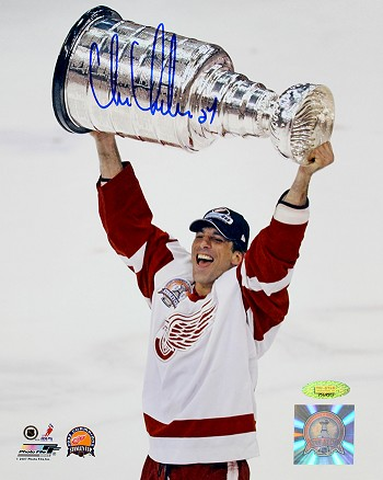 Chris Chelios Autographed Detroit Red Wings Stanley Cup Champs 8x10 Photo