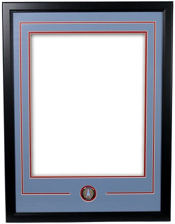 Houston Oilers Double Matted Frame with Logo Coin