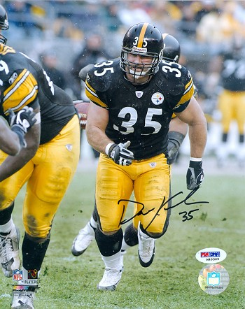 Dan Krieder Autographed Pittsburgh Steelers 8x10 Photo
