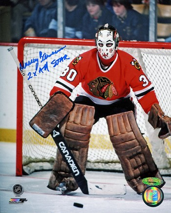 Murray Bannerman Autographed Blackhawks 8x10 Photo 2x All Star