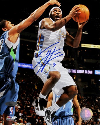Ty Lawson Autographed Denver Nuggets Layup 8x10 Photo