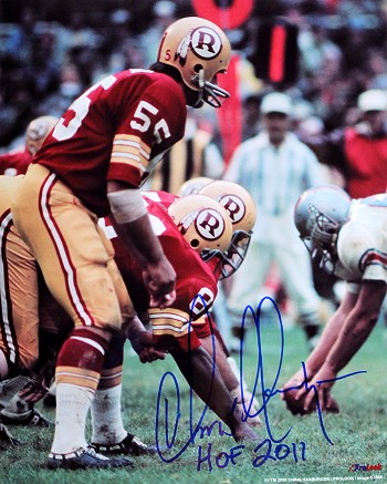 Chris Hanburger Autographed Redskins 8x10 Photo Inscribed HOF 2011