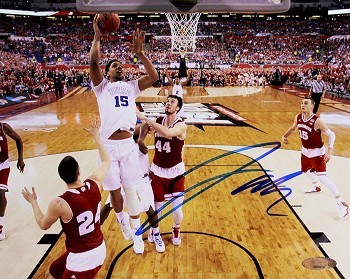 Jahlil Okafor Autographed Duke 2015 NCAA Championship Lay Up 8x10 Photo