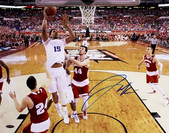 Jahlil Okafor Autographed Duke 2015 NCAA Title Game 16x20 Photo