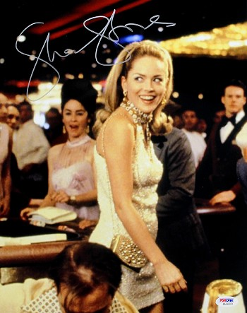 Sharon Stone Autographed Walking The Casino Floor 11x14 Photo