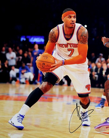 Carmelo Anthony Autographed New York Knicks 16x20 Photo
