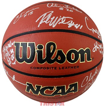 Phi Slama Jama Autographed Indoor/Outdoor NCAA Basketball