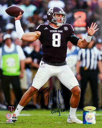 Trevor Knight Autographed Texas A&M Aggies Throwing 8x10 Photo