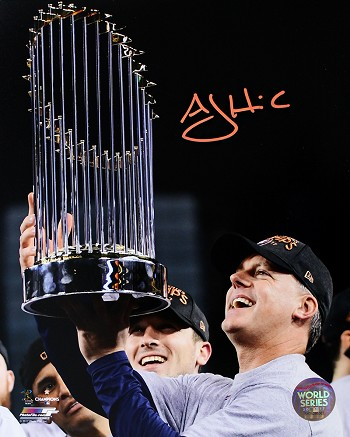 A.J. Hinch Autographed Houston Astros 2017 World Series Champs 8x10 Photo