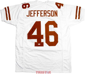 Malik Jefferson Autographed Texas Longhorns Custom White Jersey
