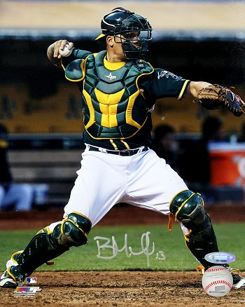 Bruce Maxwell Autographed Oakland A's 8x10 Photo