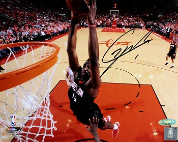 Clint Capela Autographed Houston Rockets Dunk Close-up 8x10 Photo