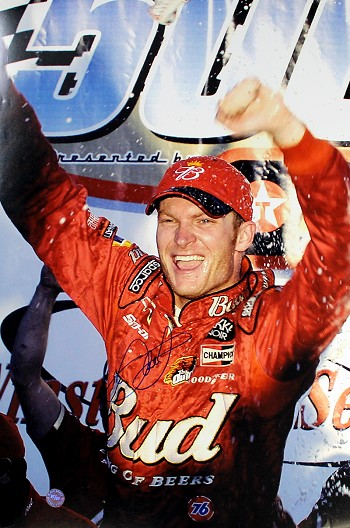 Dale Earnhardt Jr. Autographed Daytona 500 Win 20x28 Photo