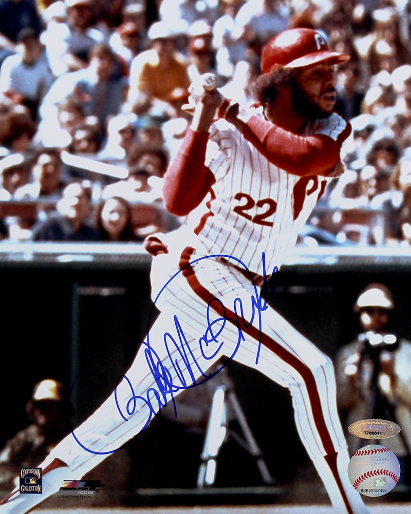 Bake McBride Autographed Philadelphia Phillies 8x10 Photo